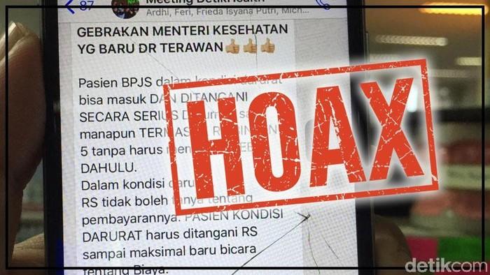 BPJS Kesehatan pastikan info ini hoaks. Foto: detikHealth
