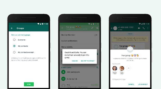 Pengguna Bisa Saring Undangan Grup Whatsapp
