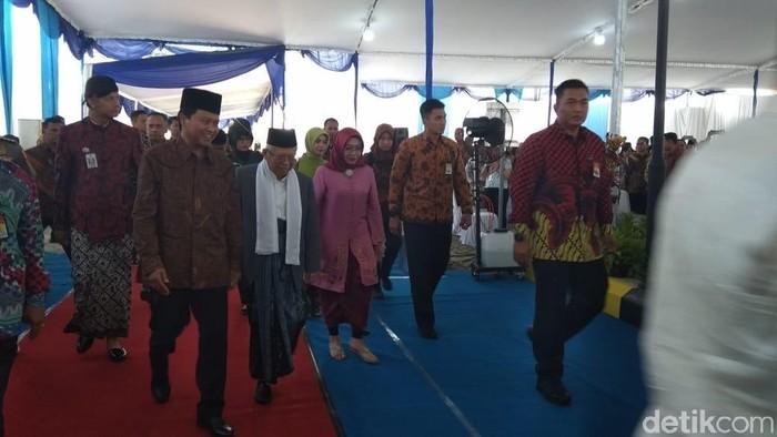 Wapres Maruf Amin tiba di RSU Syubbanul Wathon, Magelang. (Eko Susanto/detikcom)