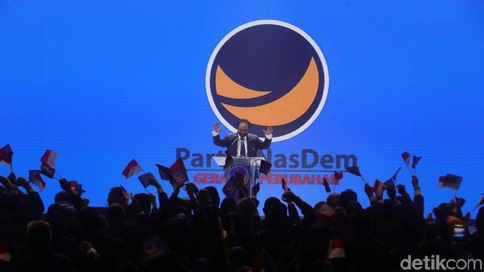 Partai NasDem menggelar Kongres II di JI Expo, Kemayoran, Jakarta Pusat, Jumat (8/11/2019). Kongres dibuka oleh Ketum Partai NasDem, Surya Paloh.