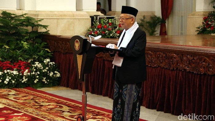 Wapres Maruf Amin (Rengga Sancaya/detikcom)