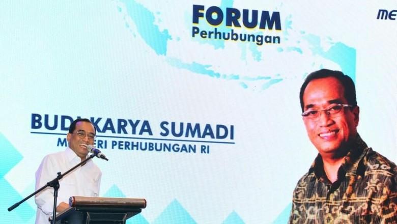 Menhub Budi Karya Sumadi di acara Forum Perhubungan (dok Humas Kemenhub)
