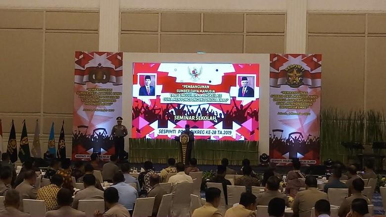 Wapres Maruf Amin Hadiri Seminar Sekolah Sespimti Polri 2019