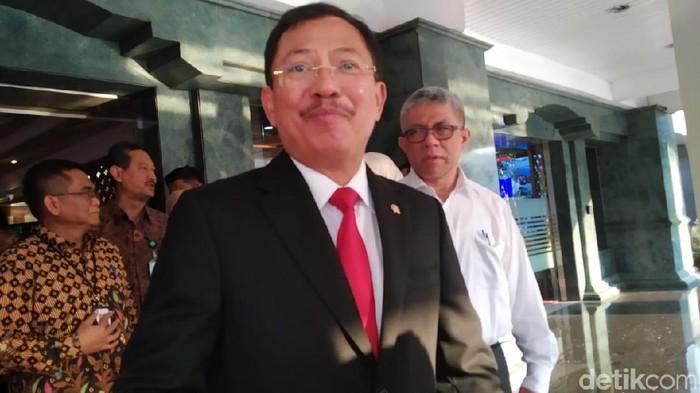 Foto: Menkes Terawan bertemu Mendagri Tito (Wilda/detikcom)
