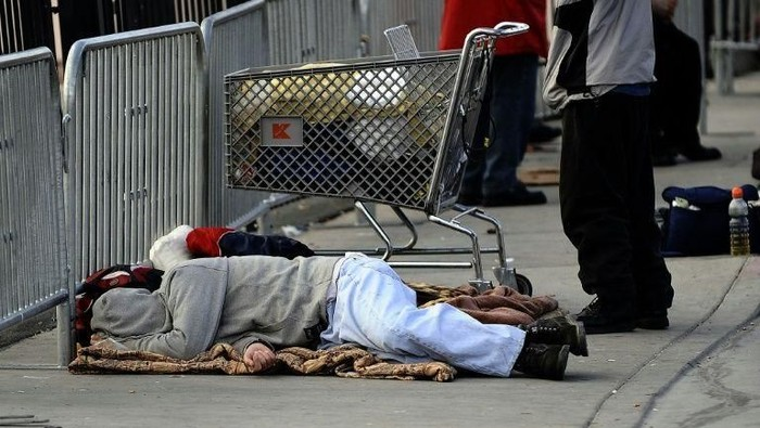 Sleeping on the streets of Las Vegas will be illegal in downtown and residential areas of the gambling city (AFP Photo/JEWEL SAMAD)