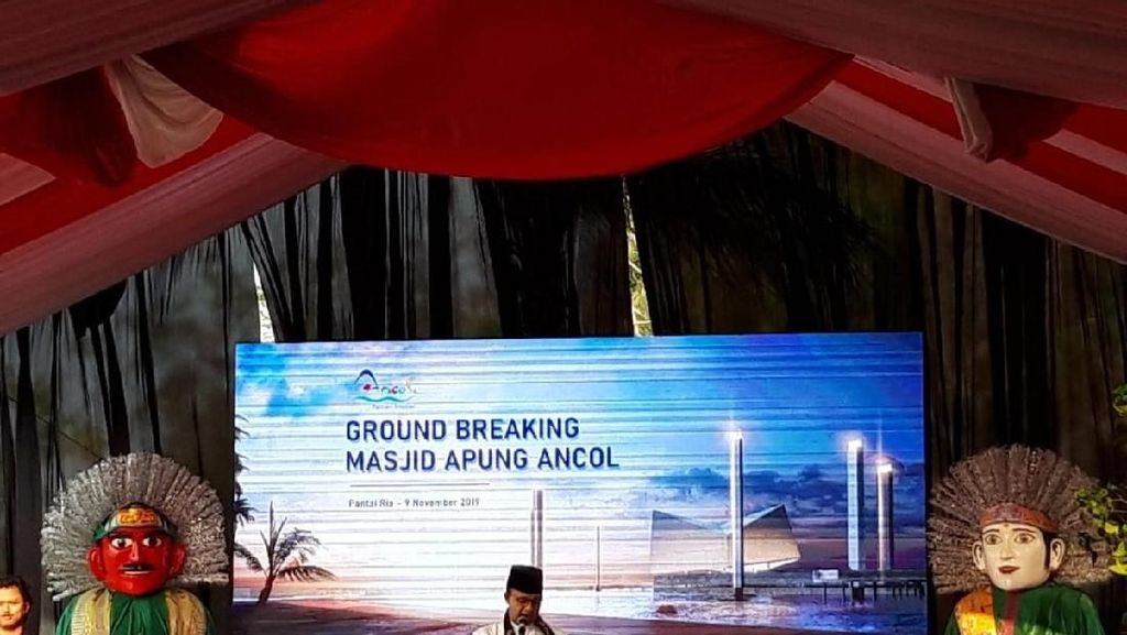 Groundbreaking Masjid Apung Ancol, Anies Harap Jadi Ikon Indonesia