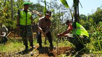Atasi Krisis Air, TNI-Polri Tanam 8.000 Pohon di Gunung Sawal Ciamis