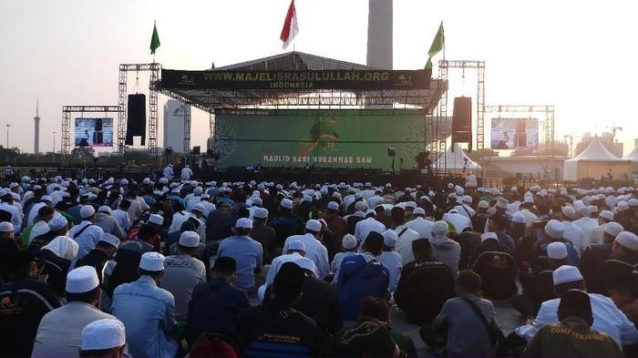 Foto: Perayaan Maulid Nabi 2019/1441 H di Monas, Jakarta. (Farih Maulana/detikcom)