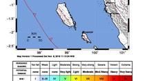 Gempa M 4,1 Terjadi di Air Bangis, Sumbar