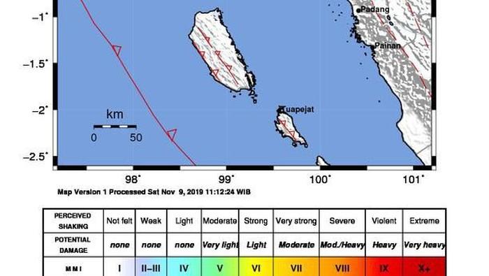 Gempa Air Bangis (Foto: BMKG)