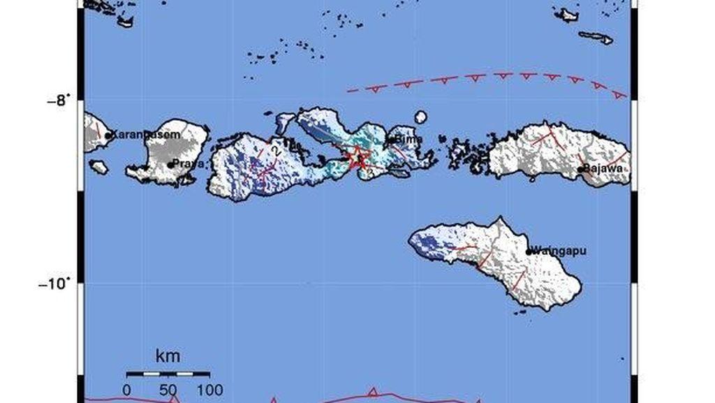Gempa M 4,7 Guncang Dompu NTB