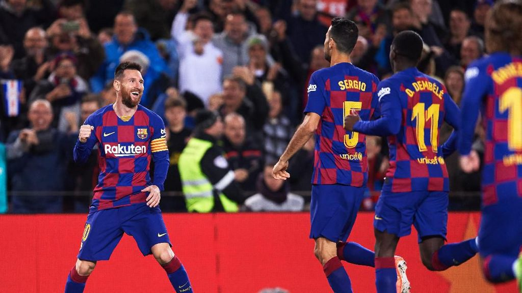 Aksi-Aksi Lionel Messi Bikin Rekor Lagi