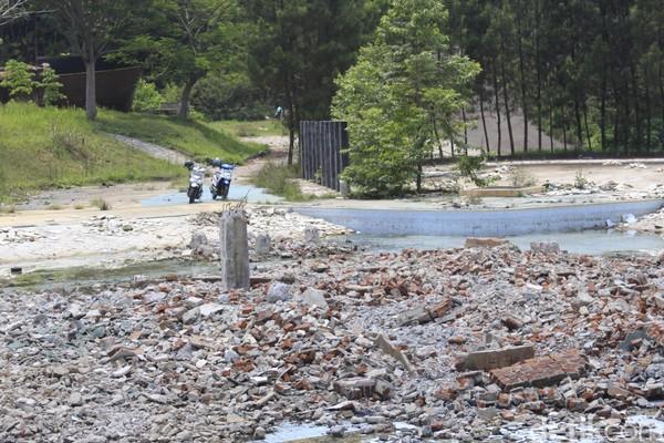 Sudut-sudut Kampung Gajah yang sudah tidak terlihat lagi sebagai taman rekreasi (Yudha Maulana/detikcom)