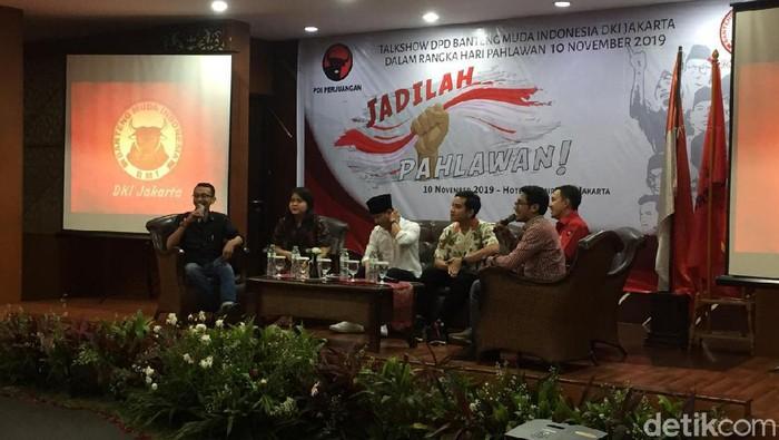 Foto: Gibran hadiri talkshow PDIP (Dwi Andayani/detikcom)