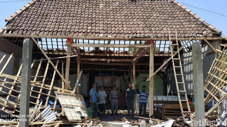 Angin Kencang Bojonegoro, BPBD: Sementara 6 Rumah Rusak Berat, 458 Ringan