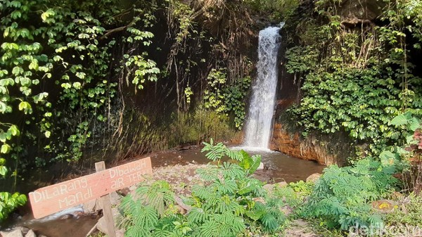 Coban Jahe 3 lokasinya cukup eksklusif. Wisatawan harus menyusuri jalan setapak di pinggir aliran sungai kecil, untuk bisa sampai ke lokasi. (Muhammad Aminudin/detikcom)