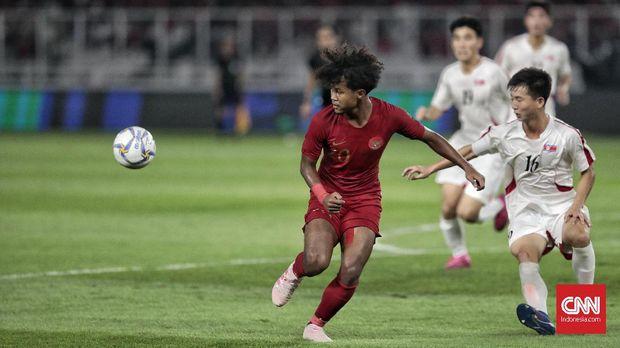 Timnas Indonesia U-19 vs Korea Utara berakhir imbang 1-1.