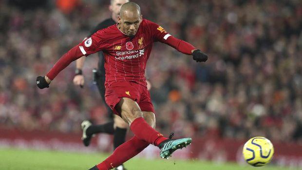 Fabinho mencetak gol pertama Liverpool.