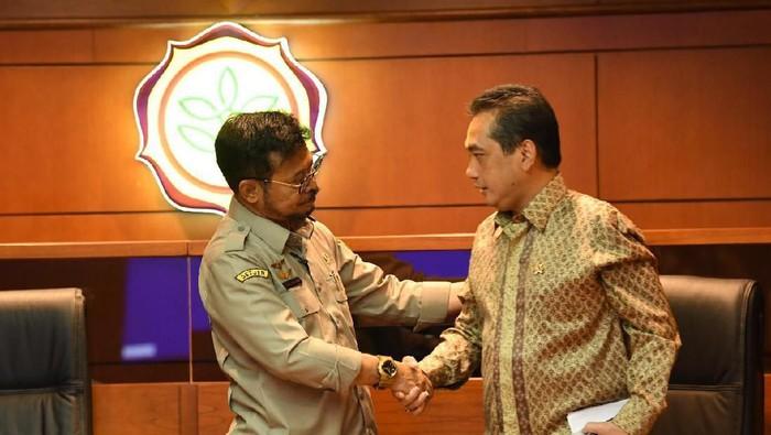 Mentan Syahrul Yasin Limpo dan Mendag Agus Suparmanto