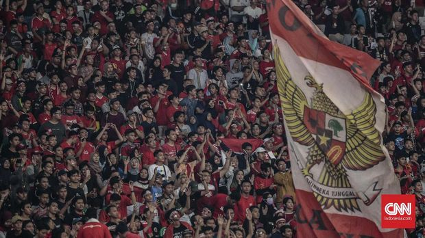 Ilustrasi suporter Timnas Indonesia. (