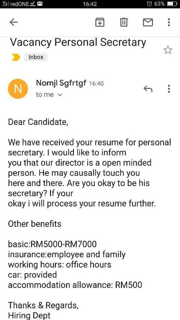 Viral Lowongan Kerja Sekretaris, Gaji Rp 16 Juta Tapi Boleh Disentuh Bos