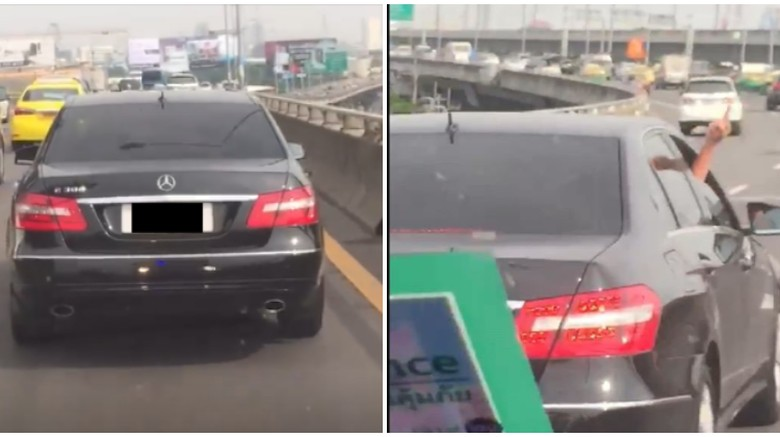 Sopir Mercedes-Benz Tak Beri Jalan Ambulans Foto: Screenshot Facebook