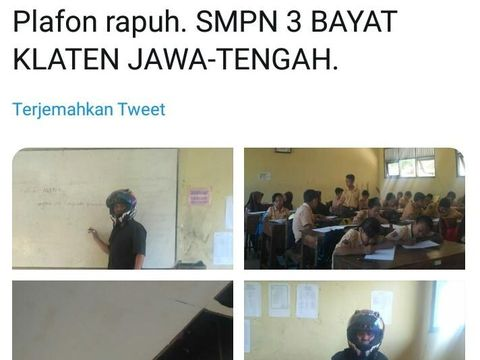 Guru SMP di Klaten Minta Maaf Usai Posting Atap Kelas Rusak, Kenapa?