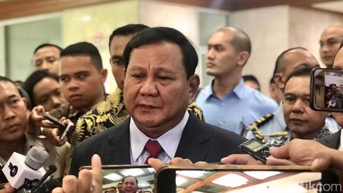 Menhan Prabowo Subianto (Mochammad Zhacky/detikcom)