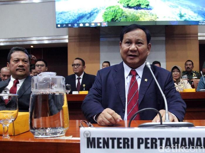 Menhan Prabowo Subianto (Lamhot Aritonang/detikcom)