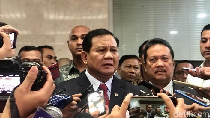 Menhan Prabowo Subianto (Zhacky/detikcom)