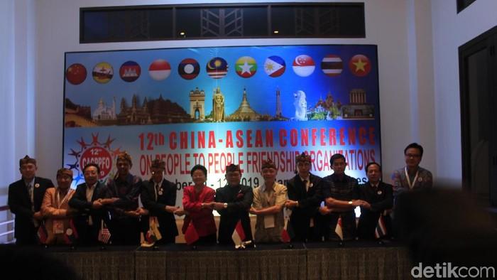 Acara Acara 12th China-ASEAN Conference on People to People Friendship Organizations (CACPPFO) di Kota Baru Parahyangan, Kabupaten Bandung Barat. (Foto: Yudha Maulana/detikcom)