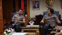 Kapolri Temui Menteri LHK Bahas Penanganan Karhutla