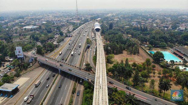 Pagi-pagi, Erick Thohir Pamer Long Span LRT Terpanjang Dunia