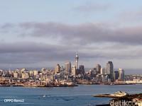 Ini Kota Auckland. New Zealand masih tertutup untuk turis namun warganya dibolehkan untuk ke beberapa negara bagian Australia (Foto: Edwidhian Tri/detikcom)