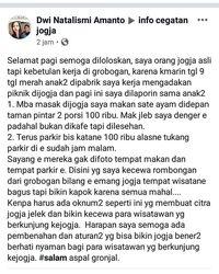 Warga Yogyakarta Marah Ada Oknum Warung Ketok Harga Sate Ayam Rp 100.000