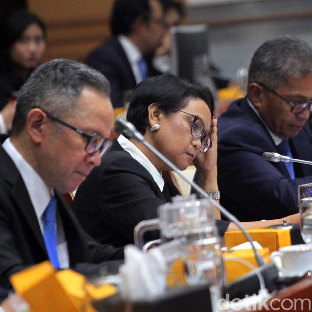 Ekspresi Menlu Retno Saat Ditanya Pencekalan Habib Rizieq