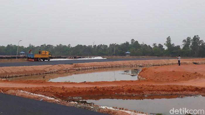 Sky Land International Circuit Sekayu  sedang dalam tahapa penyelesaian akhir. (Raja Adil Siregar/detikSport)