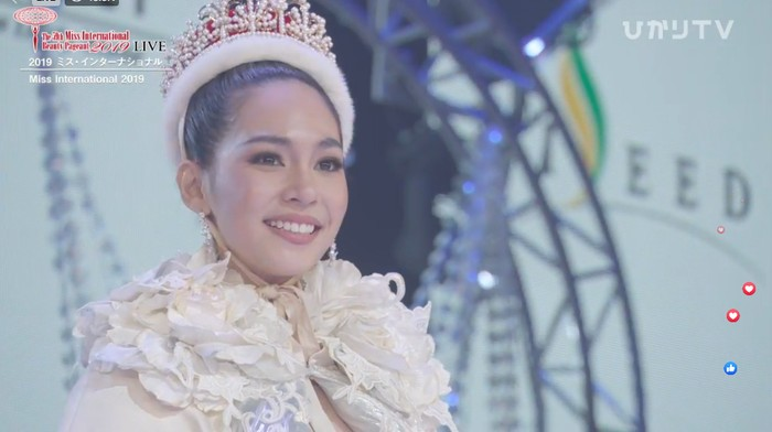 Miss Thailand Sireethorn Leearamwat juara Miss International 2019. Foto: Dok. Miss International