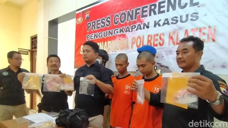 Pengedar Sabu Dibekuk Polisi Klaten Saat Tunggu Pembeli COD