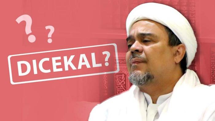 Ilustrasi Fokus Habib Rizieq Dicekal? (Andhika Akbarayansyah/detikcom)