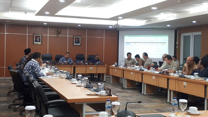 Foto: Rapat Komisi D dan Bina Marga DKI (Dwi Andayani/detikcom)
