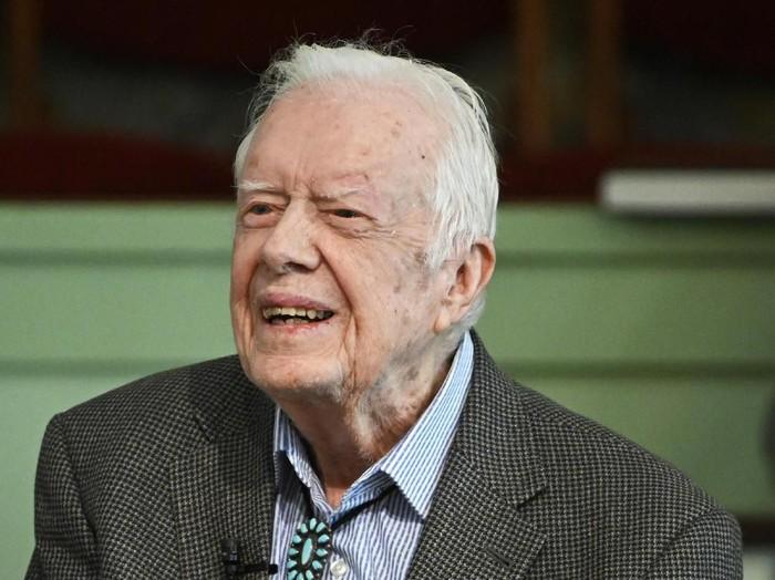 Jimmy Carter dalam foto pada November 2019 (AP Photo/John Amis)