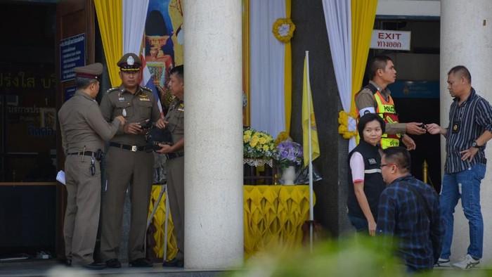 Situasi di pengadilan Chantaburi usai baku tembak pada 12 November (DAILYNEWS/AFP)