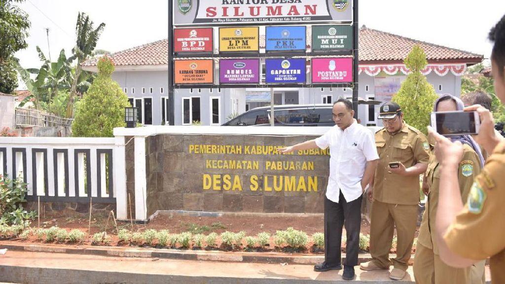 Wamendes Cek Desa Siluman, Lokasinya di Subang