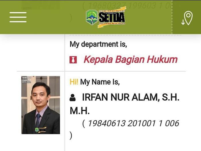 Irfan Nur Hakim. (Foto: Tangkapan layar setda.majalengkakab.go.id)