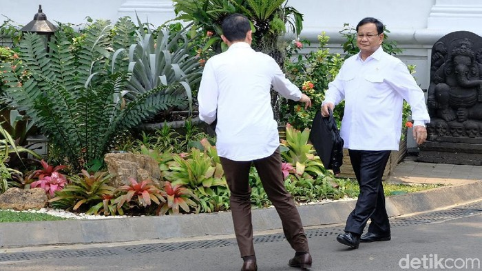 Menhan Prabowo Subianto (Andhika Prasetia/detikcom)