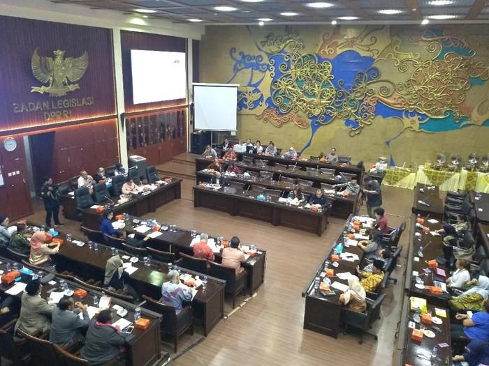 Foto: Ilustrasi rapat di Baleg DPR (Nur Azizah/detikcom)