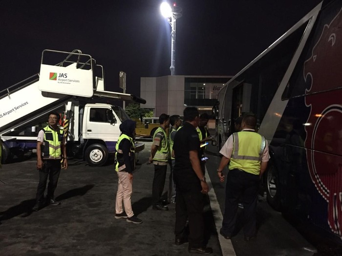Bus berasap di Ngurah Rai Bali (Dok. Otban Wilayah IV Bali-Nusra)