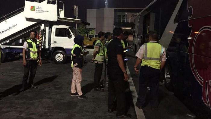 Bus berasap di Ngurah Rai Bali. (Dok. Otban Wilayah IV Bali-Nusra)