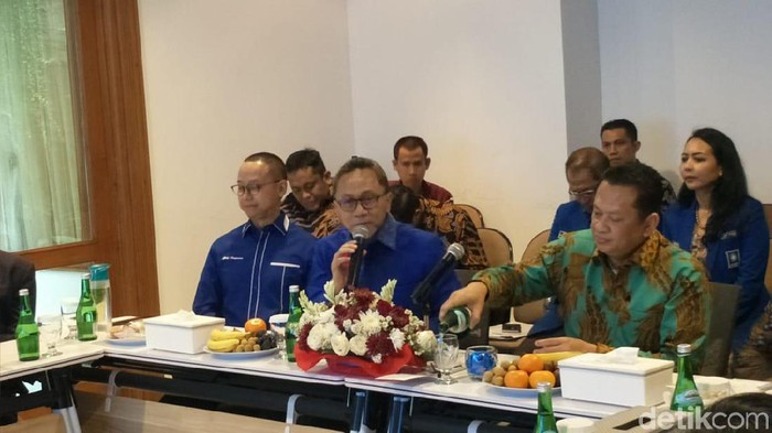Pimpinan MPR ke DPP PAN (Nur Azizah Rizki Astuti/detikcom)